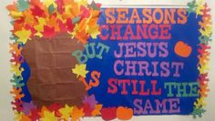 fall+bulletin+boards+for+church | Fall bulletin board for church...Created by Jesus & I