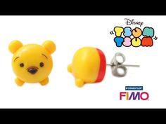 Winnie the Pooh Tsum Tsum earrings polymer clay tutorial