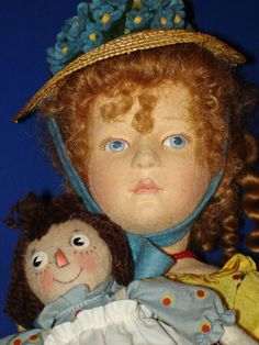 R. John Wright MARCELLA & RAGGEDY ANN Dolls Only 250 Made! 2005