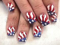 """<3 """"Fourth Of July"""" Nails <3"""