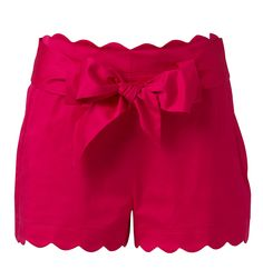 red scalloped shorts. awesome.
