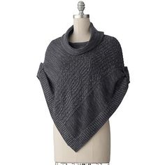 SONOMA life + style® Cable-Knit Cowlneck Sweater Poncho - Petite  sale $29.99