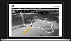 Direction artistique site internet pour une marque de sport