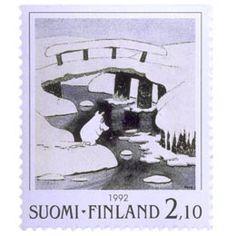 Postimerkki: Muumeja - Tove Jansson, Taikatalvi | Suomen postimerkit Tove Jansson, Postage Stamps, Winter, Stamps, Finland, Winter Time, Winter Fashion