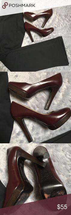 "Michael Kors Heels Michael Kors heels. Wine color. Great condition. Heels are 41/2"" high. Shoe size 5.5. ❗️No Trades❗️Proceeds go towards feeding the homeless❗️ Michael Kors Shoes Heels"