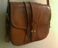 Dooney & Bourke Brown Leather Saddle bag purse