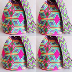 41 отметок «Нравится», 2 комментариев — Wayuuworld (@wayuuworld) в Instagram: «Happy day   Los colores de @wayuuworld #ss18 #instablogger #wayuubag #itbag #fashionblogger…» Tapestry Bag, Tapestry Crochet, Vide Poche, Poufs, Purses, Bags, Templates, Totes, Crocheting
