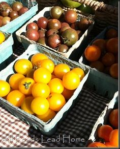 Farmer's markets are a great way to eat green!