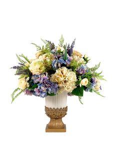 Creative Displays Purple & Cream Hydrangea & Rose Floral in Urn, http://www.myhabit.com/redirect/ref=qd_sw_dp_pi_li?url=http%3A%2F%2Fwww.myhabit.com%2Fdp%2FB00J3P6C1E