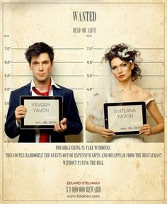 Wanted / Special wedding pictures / funny pictures