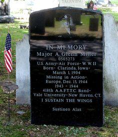 Glenn Miller Headstone New Haven, CT