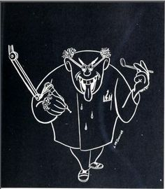 Dental School banishes age-old fears (?), University of Detroit. 1956 Tower yearbook #dentists