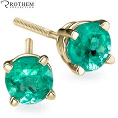 #RothemCollection Rothem's #EmeraldStudEarrings! Now available in eBay. eBay store http://stores.ebay.com/rothemdiamonds