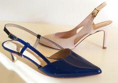 Chanel in vernice cipria o blu