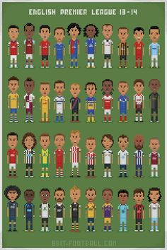 8bit Premier League Football Art, English Premier League, World, Holiday, Illustration, Vacations, Illustrations, The World, Holidays Events