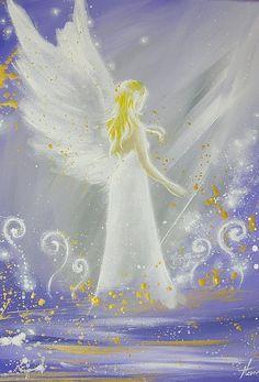 Limited angel art photo Feeling you modern angel by HenriettesART