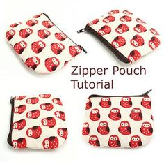 Zipper Pouch Tut - finally realized this is how you make pouches so there are clean seams at the interior zipper