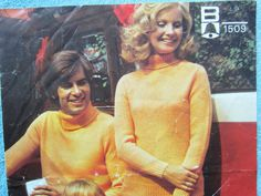 Vintage knitting pattern NOT A PDF knitting by Family Weekend, Family Picnic, Vintage Knitting, Double Knitting, Knitting Patterns, Pdf, Handmade, Stuff To Buy, Fashion