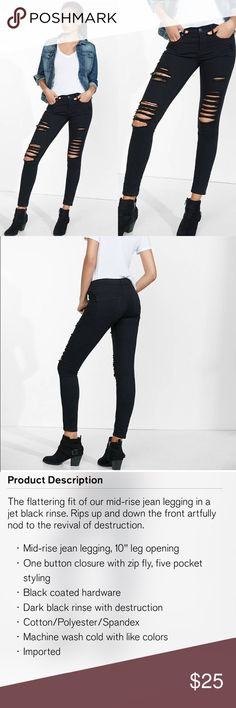 Express: High Rise Jeans True To Size | Condition: 9/10 | PRODUCT DESCRIPTION LISTED ABOVE ***** Express Jeans