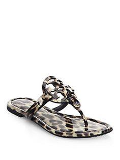 Tory Burch - Miller Leopard Thong Sandals