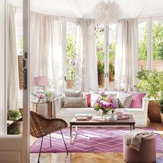 """2,691 Gostos, 19 Comentários - El Mueble (@el_mueble) no Instagram: """"Luz, toques de rosa… ¡y acción! Este salón nos pareció tan espectacular que no dudamos en…"""""""