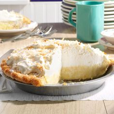 Wonderfully sweet, coconutty pie makes an amazing addition to any dessert spread. | Dar's Coconut Cream Pie Recipe from Taste of Home