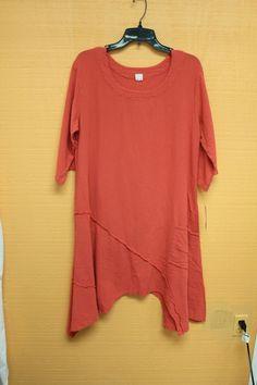 Maria De Guadalajara Dress, Coral, 100% Cotton, Sz XL, NWT #MariaDeGuadalajara
