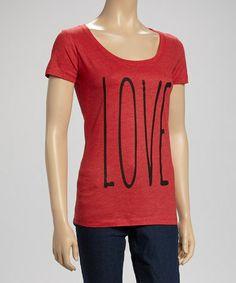 Look at this #zulilyfind! Vintage Red 'Love Tee' - Women #zulilyfinds