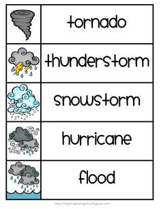 FREE - After the Storm Helps kids write about and discuss uncomfortable feelings after a natural disaster Weather Kindergarten, Teaching Weather, Preschool Weather, Weather Science, Weather Activities, Kindergarten Science, Teaching Science, Mad Science, Physical Science