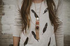 DIY: feather tee