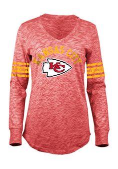 Kansas City Chiefs Womens Red Relaxed T-Shirt