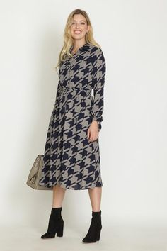 Chemise Dress, Houndstooth, Fall, Casual, Collection, Dresses, Fashion, Autumn, Vestidos