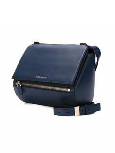 GIVENCHY medium ' Pandora Box ' crossbody bag Pebbled Leather, Calf Leather, Pandoras Box, Leather Texture, Givenchy, Shoulder Strap, Navy Blue, Crossbody Bag, Zip