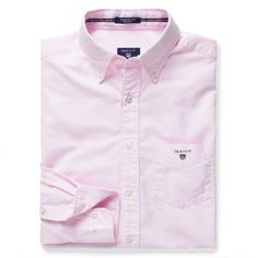 GANT Men's Oxford Shirt Light Pink | Official Site