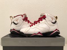 2011 Air Jordan 7 Retro Cardinal Red White Bronze Black Size 11 304775-104 | eBay