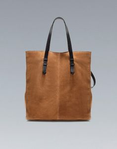 Zara suede shopper