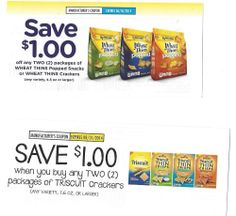 Triscuit Crackers & Wheat Thins Popped Snacks 6/30 & 8/31 2014