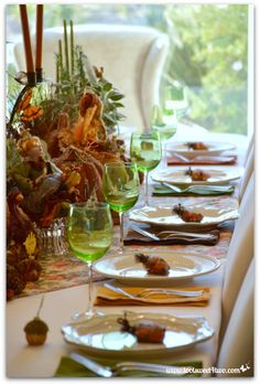 Decorating the Table for a Thanksgiving Celebration
