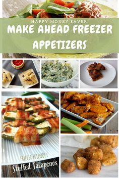 Make Ahead Freezer Appetizers via @HappyMoneySaver