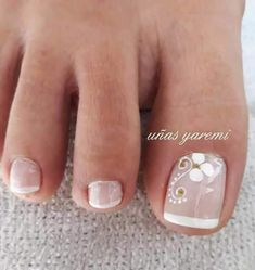 Lace Nail Art, Lace Nails, Flower Nails, Pedicure Designs, Toe Nail Designs, French Pedicure, Manicure And Pedicure, Feet Nails, Opi Nails
