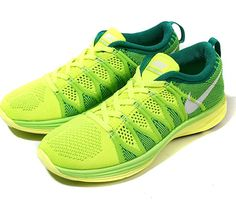 bed8da997fbe Trendy Women s Sneakers 2017  2018   Nike Flyknit Lunar 2 WMNS-Volt-White-Electric  Green-LCD Green.