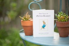 Beatrix Potter garden inspired shoot with beautiful wild flowers, hints of water color, and a spectacular outdoor tablescape for a tea party reception. Tales Of Beatrix Potter, Easter Celebration, Peter Rabbit, Tea Party, Bloom, Place Card Holders, Gardens, Classic, Flowers