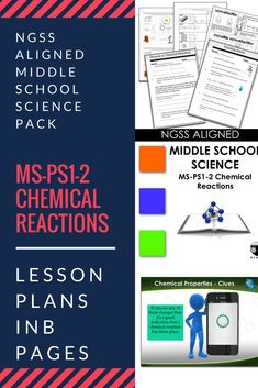 Middle School NGSS Physical and Chemical Changes Aligned Pack Science Curriculum, Science Classroom, Science Lessons, Teaching Science, Science Activities, Science Chemistry, Science Fun, Science Resources, Teaching Tools