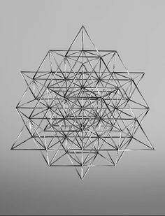 is the fewest number of tetrahedrons you need to form 2 octaves of perfectly balanced geometry. what Buckminster Fuller called the Vector equilibrium. 64 codons in human DNA