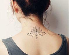 Totem de tatouage Mandala temporaire tatouage par prosciuttojojo