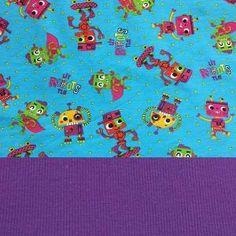 Set Jersey Little Robots+Bündchen lila