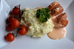 Viktväktarrecept Lchf, Mashed Potatoes, Diet Recipes, Sausage, Food And Drink, Veggies, Ethnic Recipes, Shapes, Whipped Potatoes
