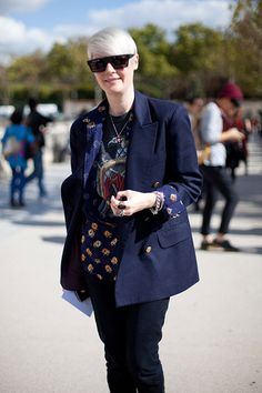Hedvig is Fall Ready - Paris Fashion Week Street Style Spring 2013 - Harper's BAZAAR