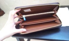 Louis Vuitton Monogram Canvas Zippy Wallet M60017. inner shoot. $120+FREE shipping+on-line payment