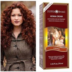 Designed like a beauty elixir, Surya Brasil's luscious Henna Cream natural hair colour has a rich and silky texture with a mild, pleasant scent. Easy to apply to clean hair, it this semi-permanent natural colour is enriched with vegetal extracts and plant based ingredients from the Amazon and from India and gentle ingredients like arnica and chamomile to soften your hair as you colour it.  See all colours at: http://www.yourtonic.com/uk/surya-henna-cream-copper.html